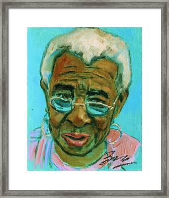 African American 6 Framed Print by Xueling Zou