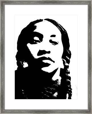 African American Girl P7292045 Framed Print