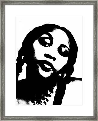 African American Girl P7292074 Framed Print