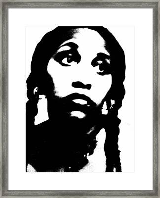 Framed Print featuring the photograph African American Girl P7292079 by Cleaster Cotton
