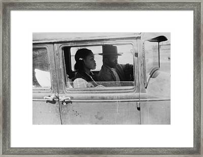 African American Migrants Framed Print by Granger