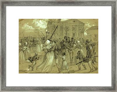 African American Soldiers Mustered Out At Little Rock Framed Print by Quint Lox