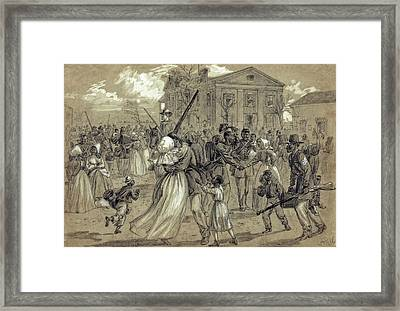 African American Soldiers Return Home From War - 1866 Framed Print by Daniel Hagerman