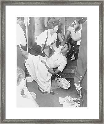African American Woman Being Carried Framed Print