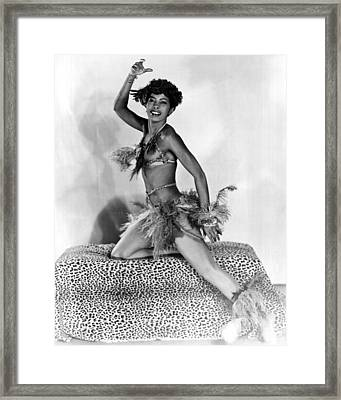 African American Woman Dancer Framed Print by Underwood Archives