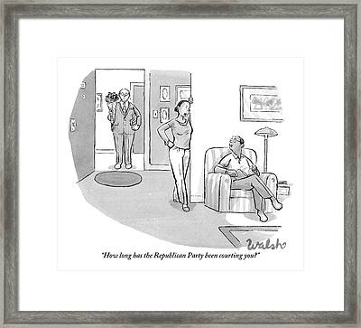 African American Woman Speaks To African American Framed Print