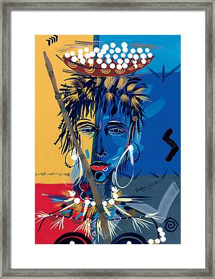 African Beauty 1 Framed Print by Oglafa Ebitari Perrin