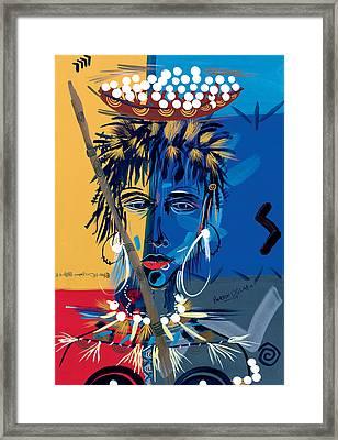 African Beauty 1 Framed Print by Oglafa Ebitari Perrin