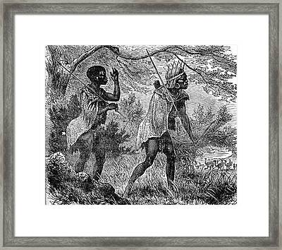African Bushmen Framed Print by Collection Abecasis