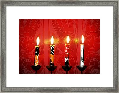 African Candles Framed Print