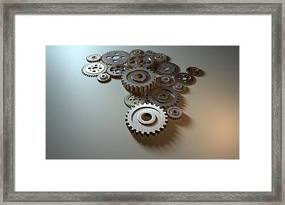 African Cogwheel Machine Framed Print by Allan Swart
