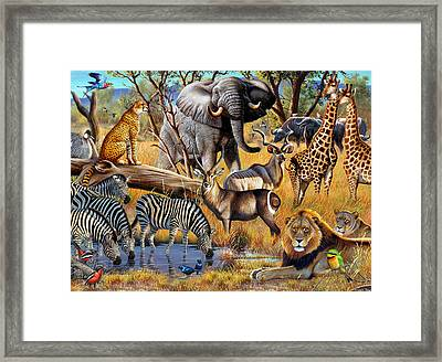 African Collage Framed Print