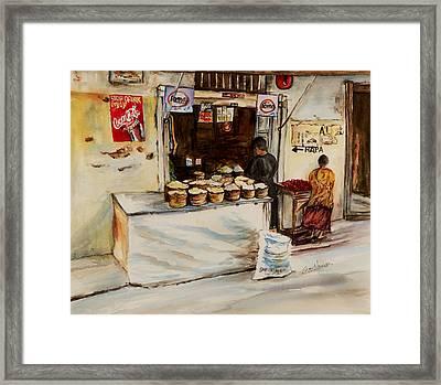African Corner Store Framed Print