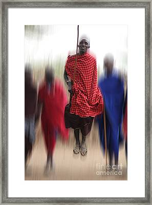 Framed Print featuring the photograph African Dance by Christine Sponchia
