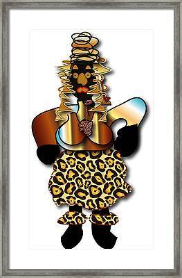 Framed Print featuring the digital art African Dancer 2 by Marvin Blaine