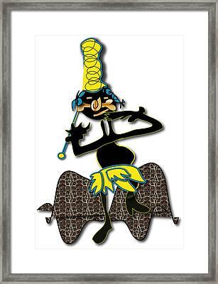 Framed Print featuring the digital art Tribal Medicine Doctor  by Marvin Blaine