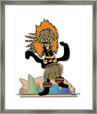Framed Print featuring the digital art African Dancer 6 by Marvin Blaine