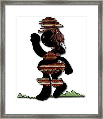 Framed Print featuring the digital art African Dancer 7 by Marvin Blaine