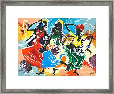 African Dancers No. 2 Framed Print
