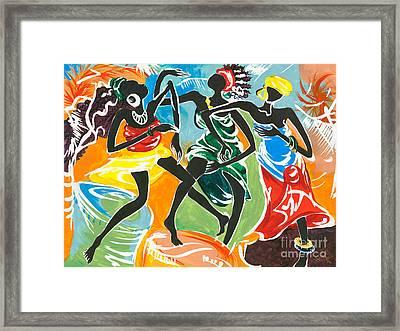African Dancers No. 3 Framed Print