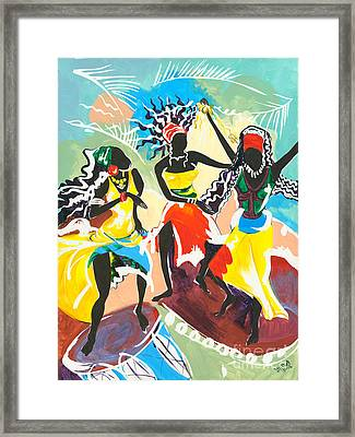 African Dancers No. 4 Framed Print by Elisabeta Hermann