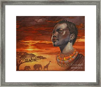 African Dream Framed Print by Isabella Kung