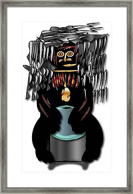 Framed Print featuring the digital art African Drummer 2 by Marvin Blaine