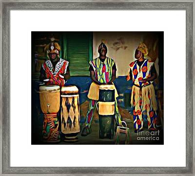 African Drummers Framed Print
