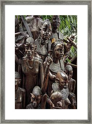 African Family Tree Of Life Framed Print by Daniel Hagerman
