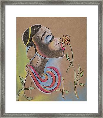African Girl Framed Print by Chibuzor Ejims