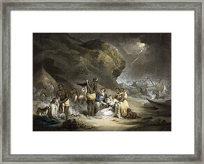 African Hospitality, Engraved By John Raphael Smith, 1791 Mezzotint Framed Print by George Morland
