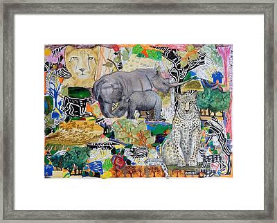 African Images Framed Print