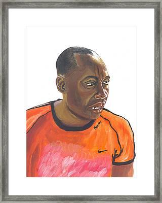African Man Framed Print