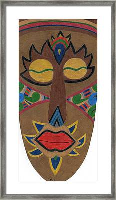 African Mask Framed Print by Bav Patel