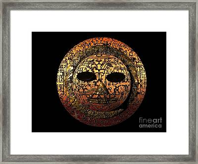 Framed Print featuring the digital art African Mask Series 1 by Jacqueline Lloyd