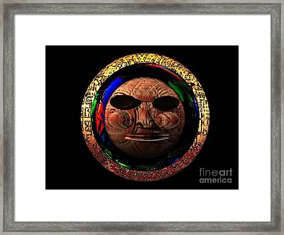 Framed Print featuring the digital art African Mask Series 2 by Jacqueline Lloyd