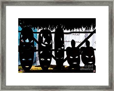 African Masks Framed Print by Marco Affini