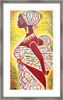 African Mother And Baby Framed Print