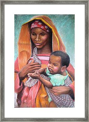 African Mother Framed Print