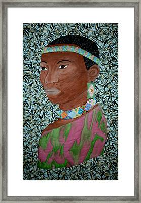 African Queen Framed Print by Linda Egland