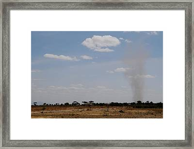African Series Buring Framed Print by Katherine Green