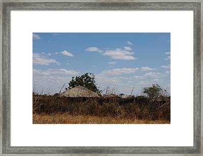 African Series Masai Hut Framed Print by Katherine Green