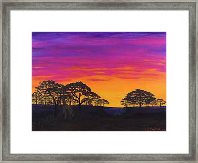Framed Print featuring the painting African Sky by Janet Greer Sammons