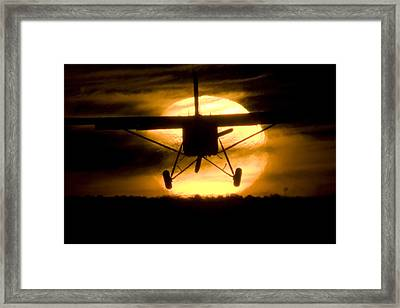 Framed Print featuring the photograph African Sunset by Paul Job