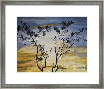 African Sunset Framed Print