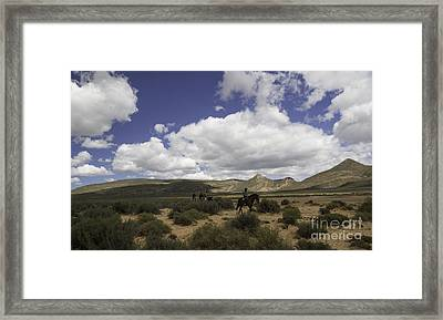 African Trail Ride Framed Print