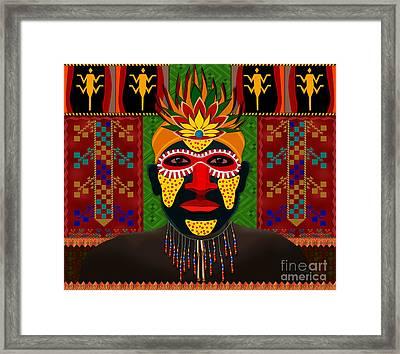 African Tribesman 1 Framed Print by Bedros Awak