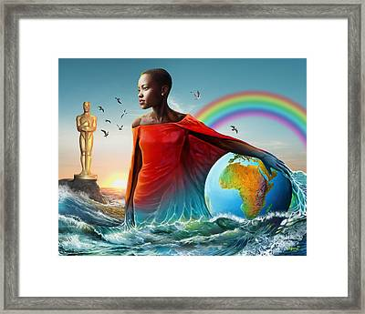 The Lupita Tsunami Framed Print