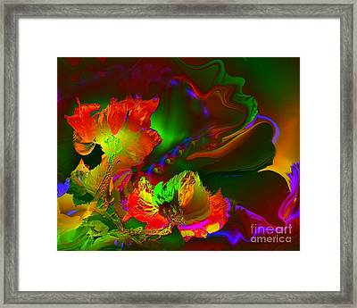 African Tulips Framed Print by Doris Wood
