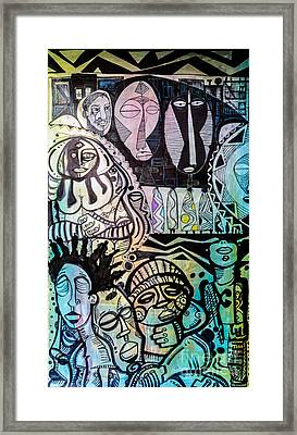 African Village Framed Print